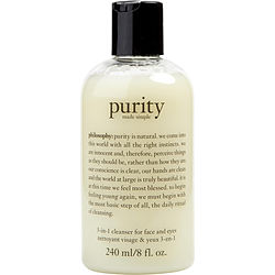 Purity Made Simple - 3-in-1 cleanser for face and eyes --240ml/8oz