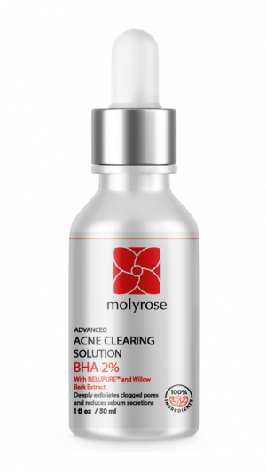 Advanced acne clearing solution bha nelupure willow bark extract