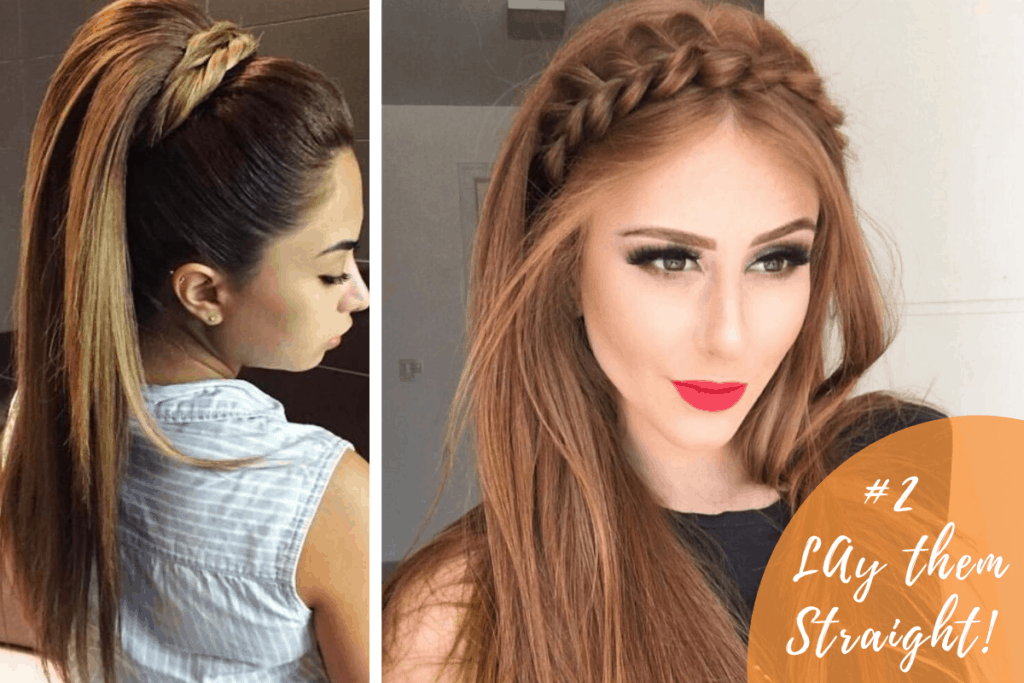 straight hair for party hairstyles