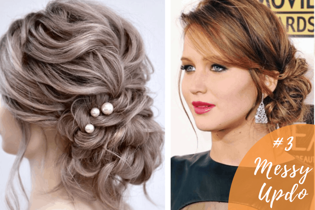 messy bun for party hairstyles