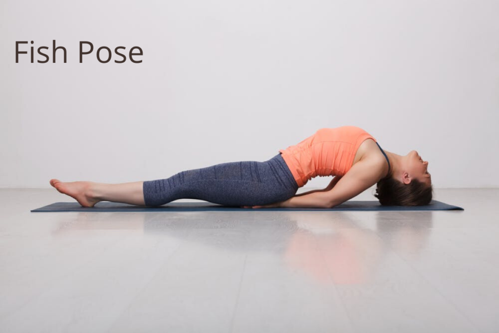 Fish pose - yoga for healthy skin