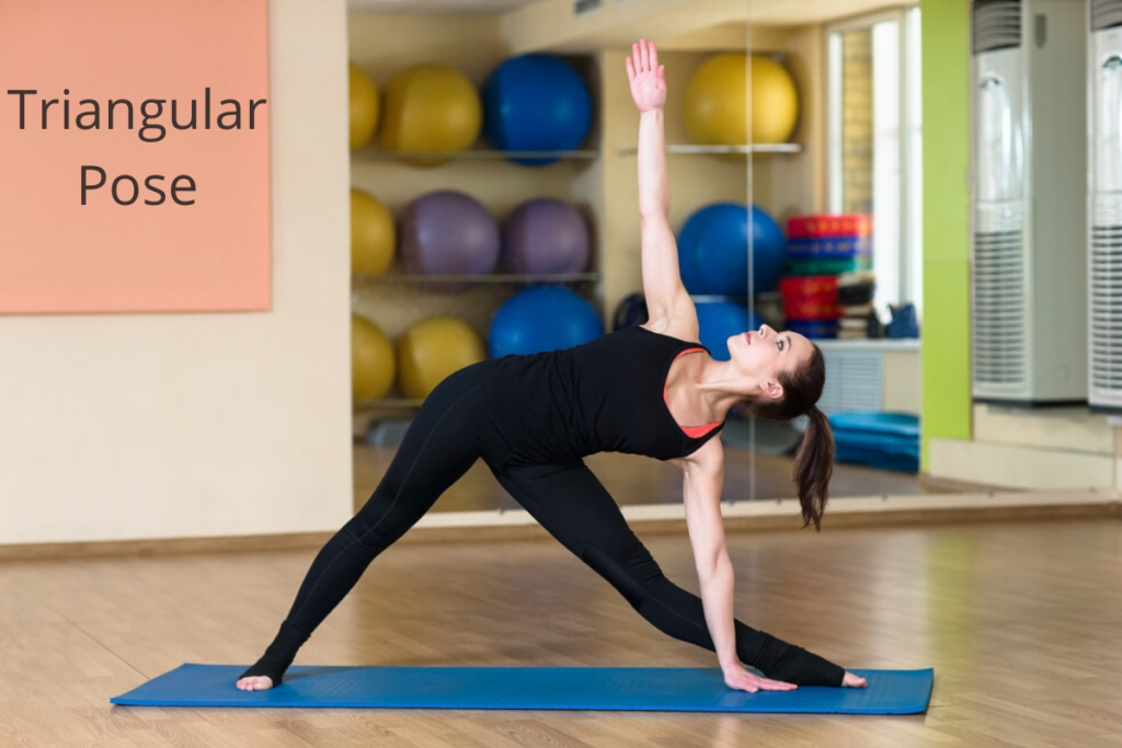 triangular pose - yoga for healthy skin
