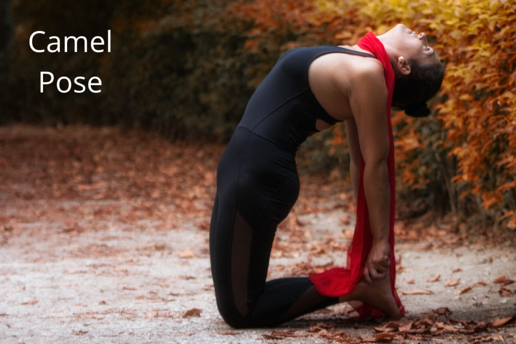camel pose - yoga for healthy skin
